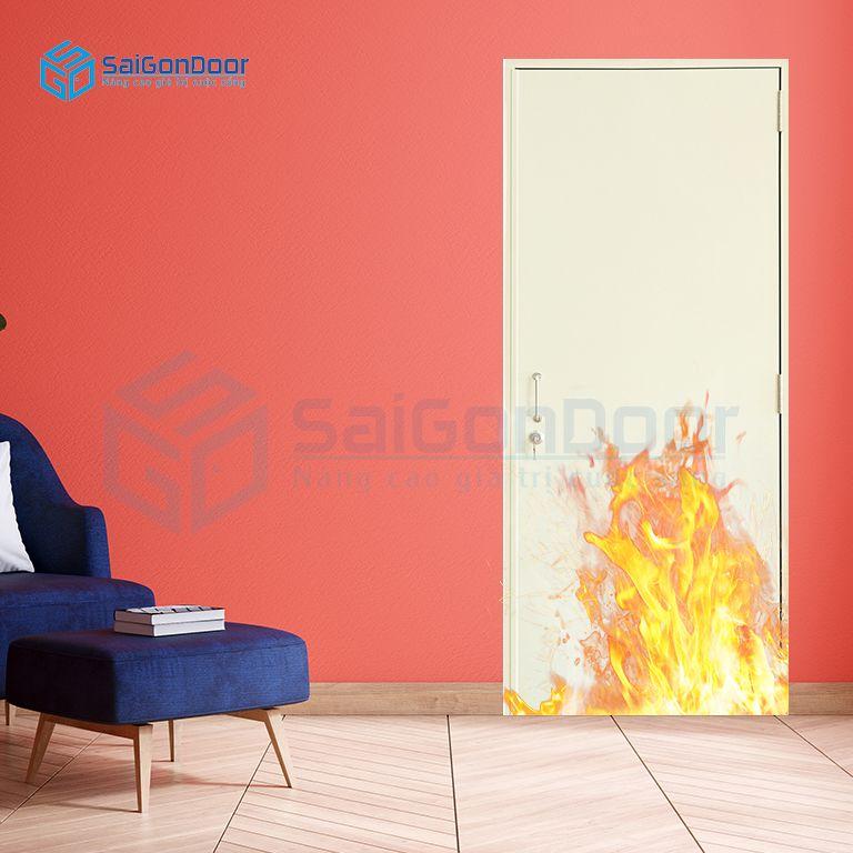 Cửa thép chống cháy an toàn phòng khách