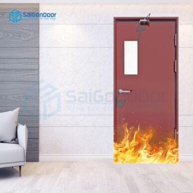 Mẫu cửa thép có ô kính chống cháy